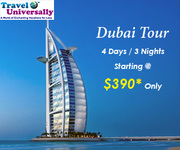 3N/4D Dubai Tour Package at Just Dollar 390 Book Now Hurry!
