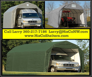 Weather-Shield Portable Garage Shelter– Barn Roof Style