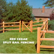 New Round Rail & Cedar Split Rail Wood Fences