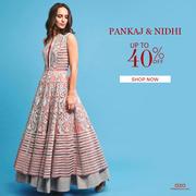 Upto 40% Off on Designer Womenswear - Aza Fashions